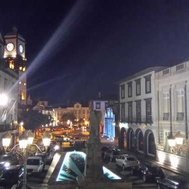 The old part of the city looks interesting by night.