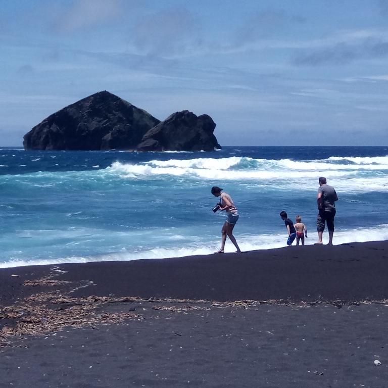 Mosteiros, the beach