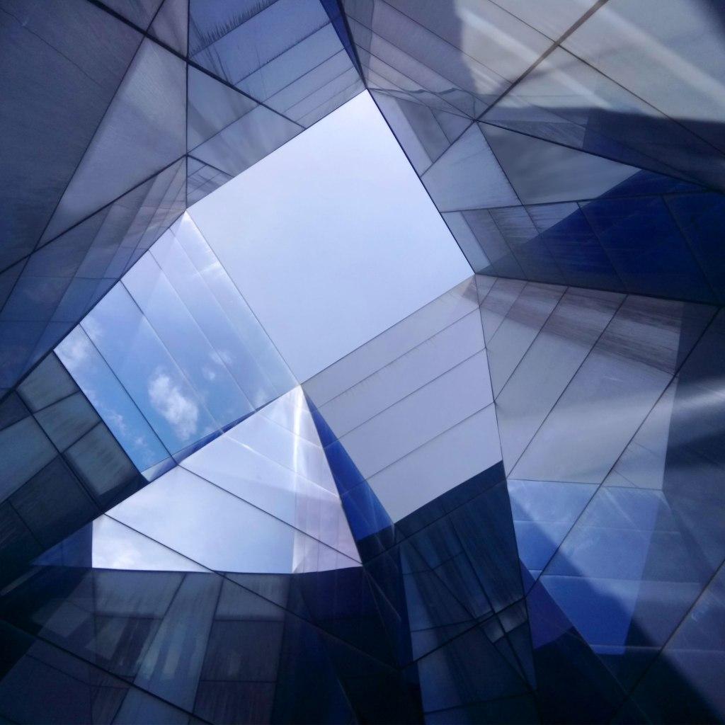 Museu Blau glass reflection